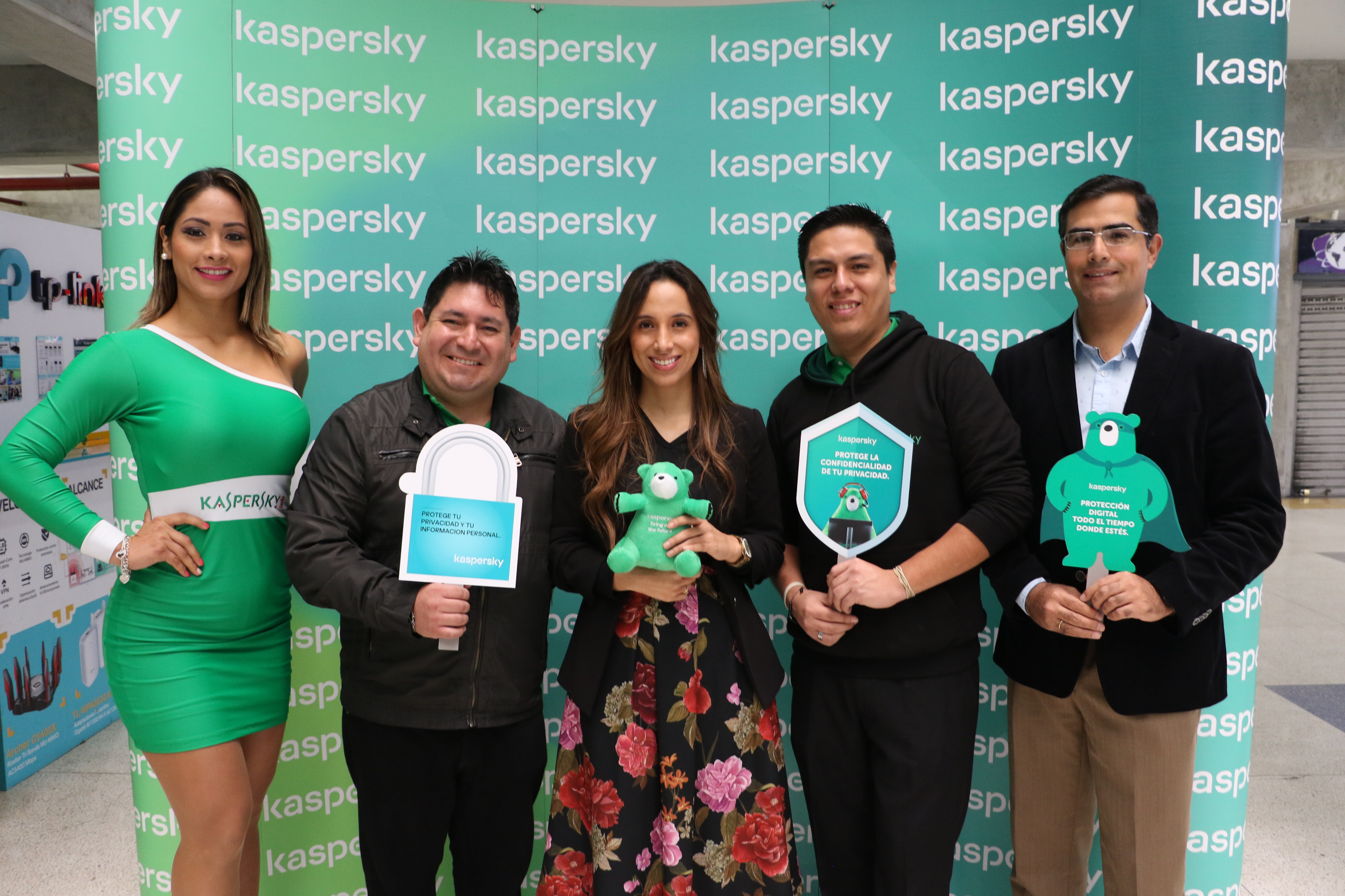 En la presentación de Kaspersky Security Cloud y Midori en Cyber Plaza estuvieron Flavio Camacho, Laura Franco, Javier Canelo y Juan Pablo Gastañaga.