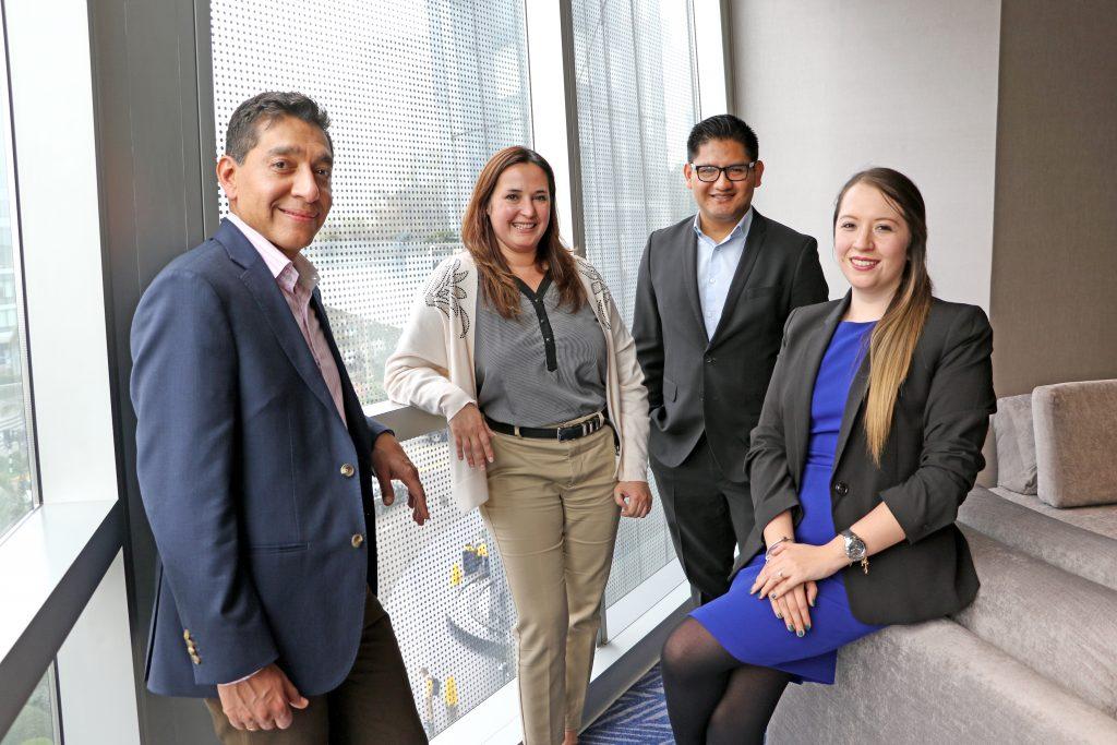 Octavio Guerra, Cecilia Rodas, Lener Barrios y María Muñoz.