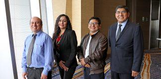 Ejecutivos que presentaron la workstation DesignPro Vastec: Vladimir Pérez, Yanet Cruz, Walter Ortega y Juan Vicente.
