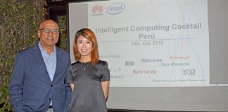 Jay Kyathsandra, Distrit Center Latam de Intel, y Sisi Yiwen Zhu, Channel & Marketing Manager de Huawei.